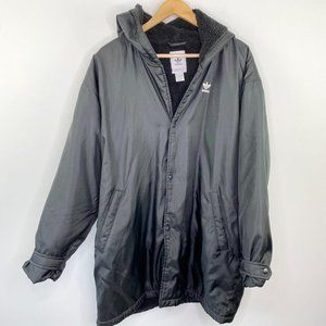 Adidas Black Button Up Fleece Lined Jacket S